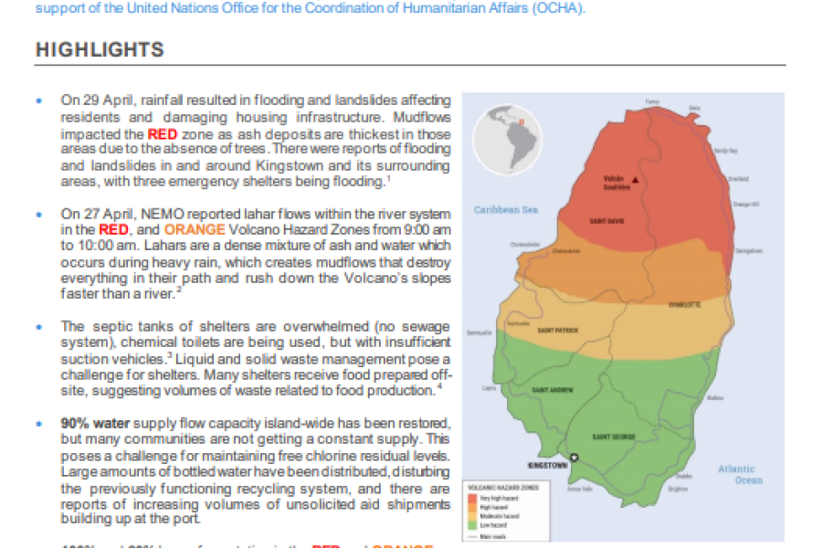 St. Vincent & the Grenadines: La Soufrière Volcano Situation Report No. 05